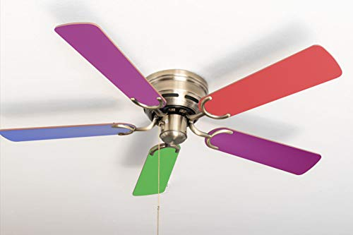 Ventilador de techo extraplano Kisa Multicolor Latón Antiguo
