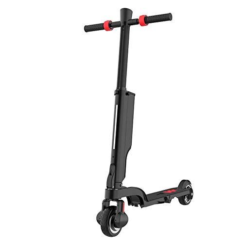 FUJGYLGL Scooter eléctrico de 5,5 Pulgadas Scooter eléctrico portátil Plegable for Adultos con Hi-Fi Bluetooth se Puede Colocar en una Mochila