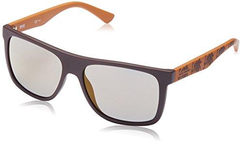 Boss Orange BO 0253, Gafas de sol Unisex - Adulto, BRW PTTRNORG WITH COPPER SP LENS, 56 mm
