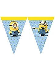 Folat B.V. 87182 Banderines para fiestas con modelo de Minions, 2 m, Color Amarillo y Azul