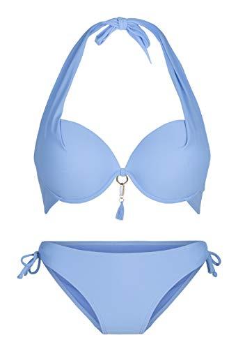 LingaDore Halterneck bikiniset Summer Blau C 40C