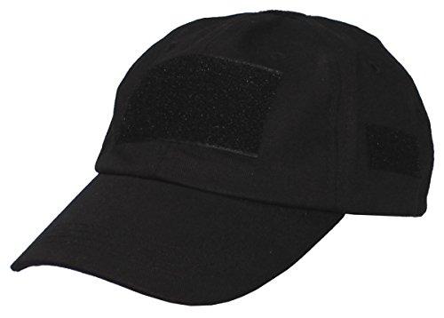 MFH Casquette Baseball armée avec rapiéçage Velcro (Noir)