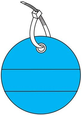 TAG-Plain Lined BLUE/2INCH Dia Circle
