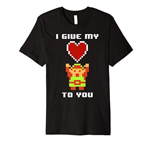 Legend of Zelda 8 Bit Color My Heart To You Premium T-Shirt