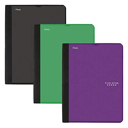 """Five Star Interactive Notetaking Composition Books, 1 Subject, College Ruled Composition Notebooks, 100 Sheets, 11"""" x 8-1/2"""", 3 Pack (38611)"""