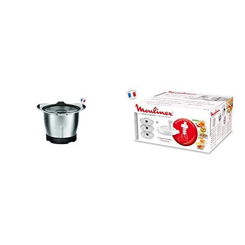 Moulinex XF38AE Robot da Cucina, 1.4 Litri & XF3831 Accessorio Taglia Verdura per Cuisine Companion, 3 Dischi, 5 Funzioni