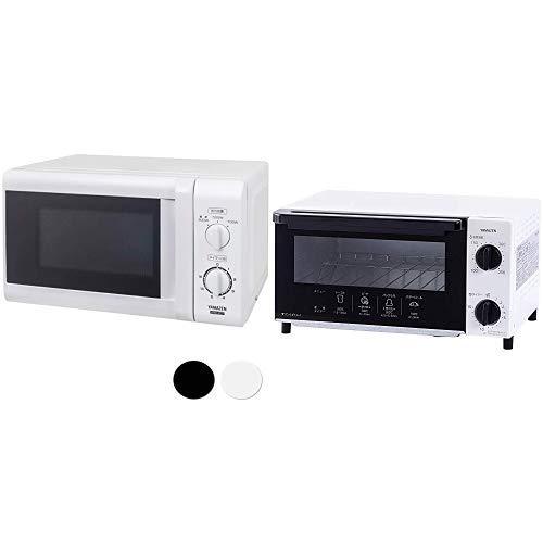 【セット買い】 [山善] 電子レンジ 17L ターンテーブル 【西日本 60Hz専用】 ホワイト MRB-207(W)6 & オーブントースター 温度調整機能付き ホワイト YTN-C101(W)