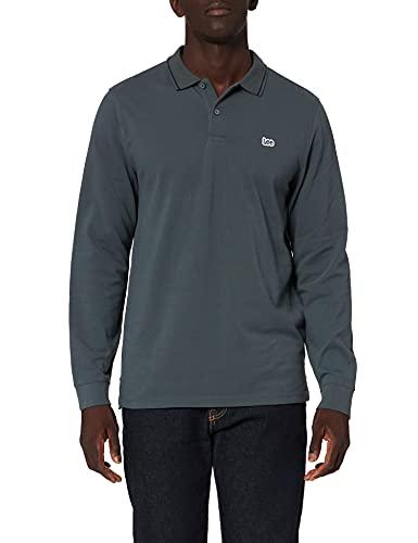 Lee Pique Polo Camiseta, Gris Oscuro, L para Hombre