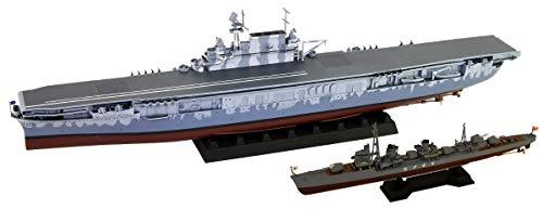 ピットロード 1/700 アメリカ海軍 空母 CV-8 ホーネット 日本海軍 夕雲型駆逐艦 巻雲付 プラモデル W207SP