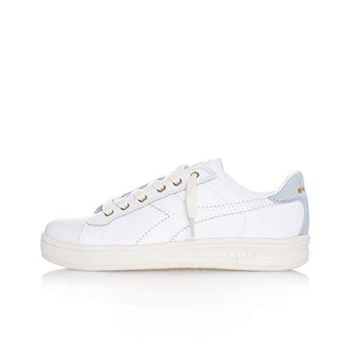 Diadora Sneakers Martin Premium Wn Bianco Oro Grigio 174349-C8008 (38 - Bianco)
