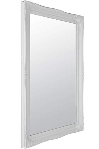 MirrorOutlet Grande Bianco Antico Decorativo Specchio da Parete 3FT6x 2FT6