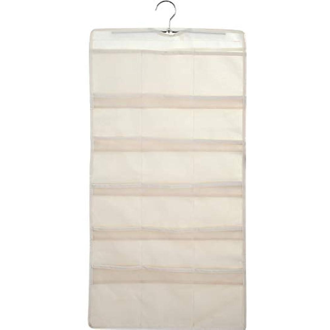 大きくて深いポケットが付いている掛かる収納オーガナイザー、小さいワードローブのための両面スペース節約衣服オーガナイザー,A