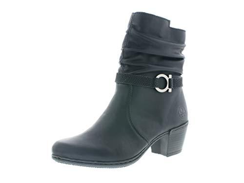 Rieker Damen Stiefeletten, Frauen Klassische Stiefelette, Women's Women Woman Freizeit leger Stiefel Boot Bootie,schwarz,38 EU / 5 UK