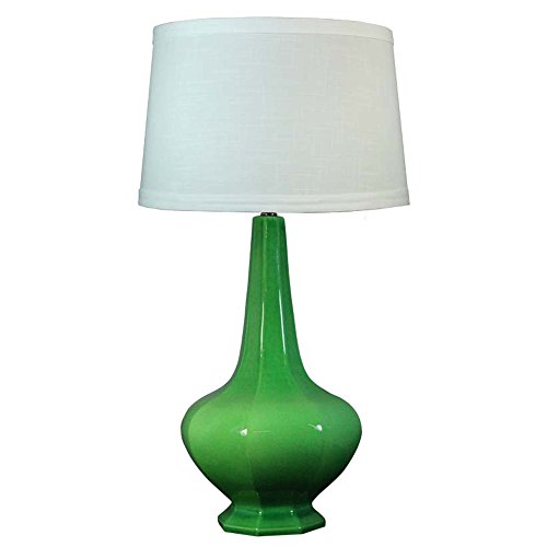 "Fangio Lighting 8788 Traditional Ceramic Table Lamp, 30"" x 17"" x 17"" , Jewel Green Crackle"