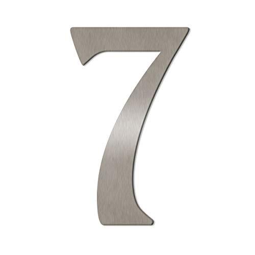 Thorwa® verschnörkelte Design Edelstahl Hausnummer Cabaletta Stil, Edelstahl gebürstet/geschliffen, H: 160mm / 16cm (7)
