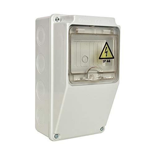 AW-TOOLS Baustromverteiler Wandverteiler IP44 Leergehäuse ohne Steckdose u. Sicherung halogenfrei