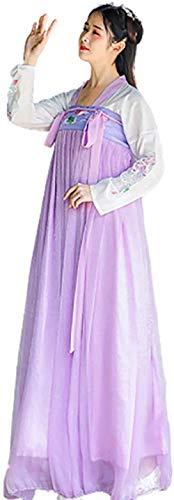 OKZH Hanfu Chino Mujer Traje Elegante Tradicional De Las Mujeres Chinas Antiguas Hanfu Disfraz De Cosplay Ropa De Vestir Falda Prpura Falda Prpura Mediana