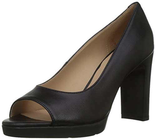 Geox Damen D ANNYA HIGH Sandal D Peeptoe Pumps, Schwarz (Black C9999), 38 EU