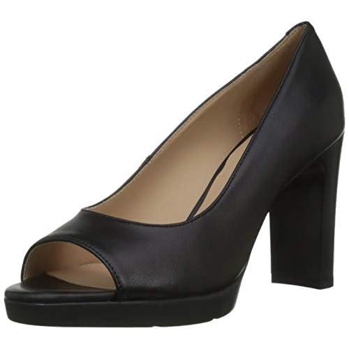 Geox D ANNYA High Sandal D, Scarpe col Tacco Punta Aperta Donna, Blu (Navy C4064), 37,5 EU