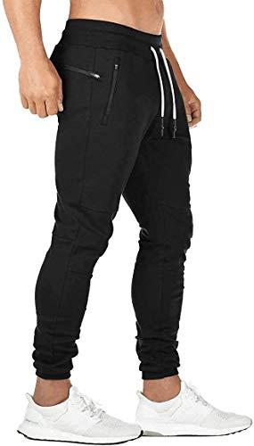 BIFADA Fitness Herren Joggerhose Sporthose Jogginghose Trainingsanzug Casual Slim Fit Bottoms Workout Gym Reißverschlusstaschen