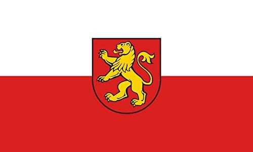 Unbekannt magFlags Tisch-Fahne/Tisch-Flagge: Dußlingen 15x25cm inkl. Tisch-Ständer