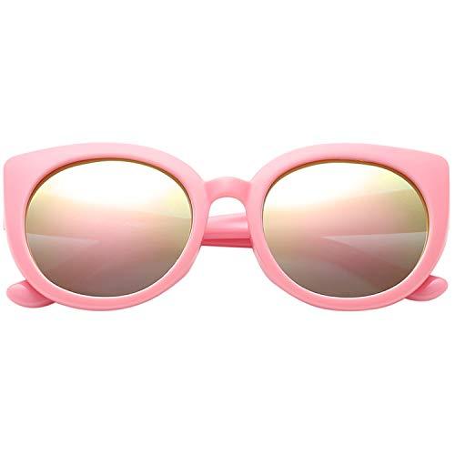 Polarspex Girls Elastic Cateye Toddler Polarized Kids Sunglasses - Ages 3-7 (Princess Pink | Pink Quartz)