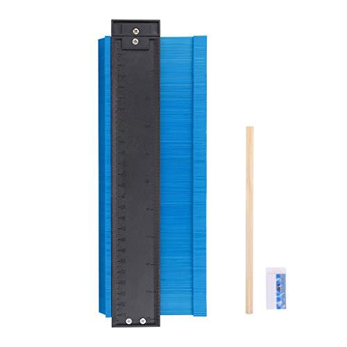 Fineday Shape Contour Irregular Profile Ruler Plastic Gauge for Duplicator Scale 250mm, Home & Garden, for Christmas New Year (Multicolor)