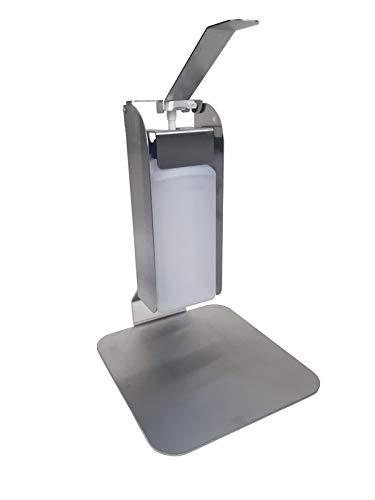 Hygiene-shop Top-Select Desinfektionsstation Tischmodell bestehend aus 1L Desinfektionsmittelspender mit Armhebel und Tischsäule