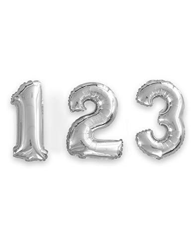 Generique - Ballon Aluminium Chiffre Argent 35 cm
