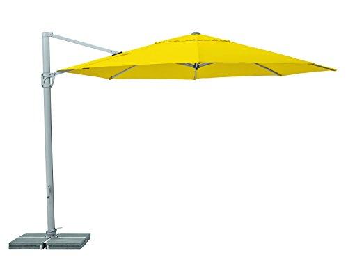 Suncomfort by Glatz Sunflex, hellgelb, 350 cm rund, Gestell Aluminium, Bespannung Polyester, 28 kg
