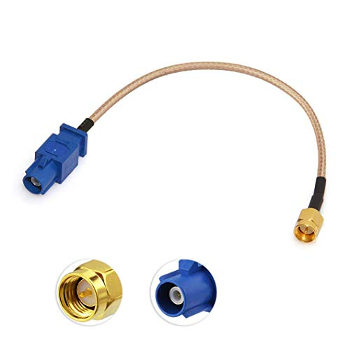 Bingfu Cable Adaptador de Antena GPS Coche SMA Macho a Fakra C Hombre Azul Cable Coaxial 15 cm para Vehículo Camión Coche Receptor Estéreo Unidad Principal Sistema Navegación GPS Módem Rastreador GPS