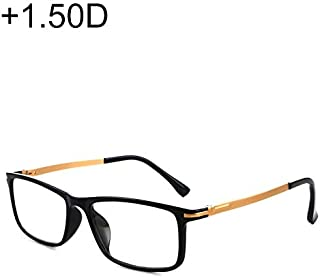 WTYD Clothing and Outdoor Accessories Black Frame Spring Hinge Anti Fatigue & Blue-ray Presbyopic Glasses, 1.50D Outdoor Equipment