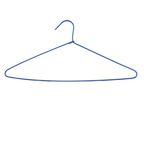 100 Perchas Acero Forradas de plástico Antideslizante de Color Azul Ideal tintorerias