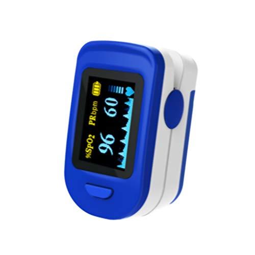 BLYL FS20C - Pulsiossimetro da dito con laccetto, Colore White/Blue