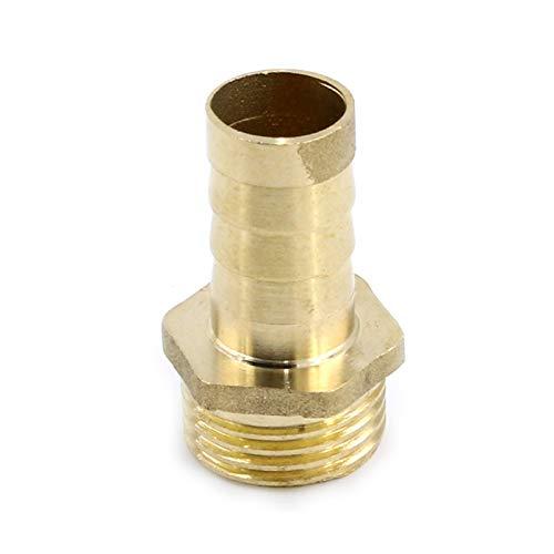 Pilang Zxxin-Accesorios de tuberia 1/8' 1/4' 3/8' 1/2' 1' Adaptador de Acoplamiento BSP Male Conector de unión de Cobre, Hose Barb Tail 6/8 / 10/12/14/16/19/25 mm Latón de Tubo roscado