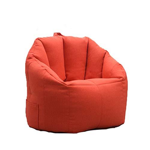 LYNNDRE Lazy Sofa im Wohnzimmer eines kleinen Apartments, kreatives Einzel-Tatami, abnehmbares und waschbares Netto rotes Sitzsack-Sofa, Schlafzimmer-Balkon-Loungesessel