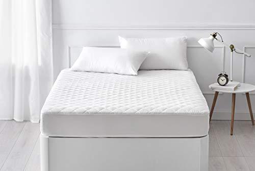 Pikolin Home - Protector de colchón acolchado de fibra transpirable para colchones de hasta 32 cm de altura