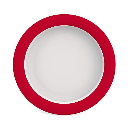 Ornamin Teller mit Kipp-Trick Ø 26 cm rot (Modell 901) / Spezialteller mit Randerhöhung,...