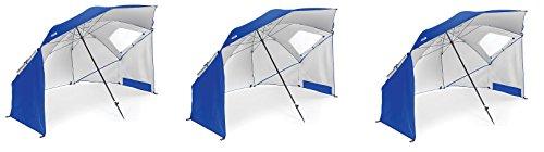 Sport Brella Regenschirm, tragbar, für alle Wetter- und Sonnenschirm, 2,4 m, xLXsoX, Blau, 3 Stück