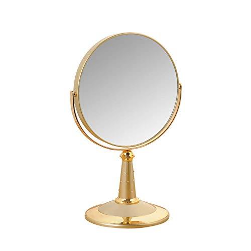 XCY Miroir de Maquillage de Beauté de 7 Pouces Miroir Cosmétique, Miroir Cosmétique À 360 °; Pivotement Miroir Grossissant, 4 Couleurs,Or