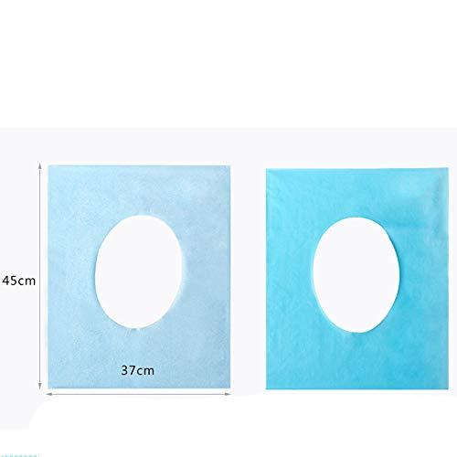 MMLC Toilet Seat Cover - WC Sitzschutz, Travel Pack Einweg-Toilettensitze aus Papier, Auflagen, Toilettenbrillen Auflagen (A)