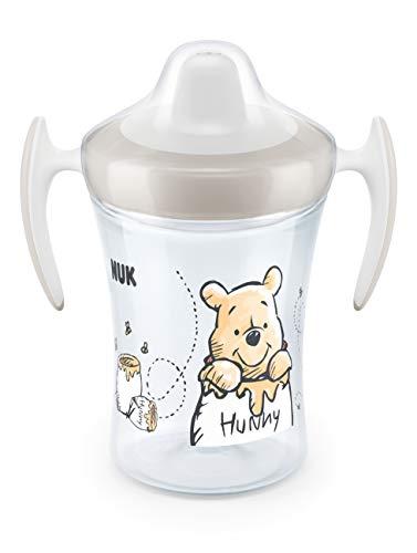 NUK 10255524 Disney Winnie Puuh Trainer Cup, weiche Trinktülle, auslaufsicher, 230ml, ab 6 Monaten, beige, 128 g