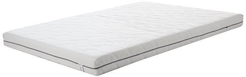 Amazon Basics Mattress, Poliuretano, White, 135 x 190 cm
