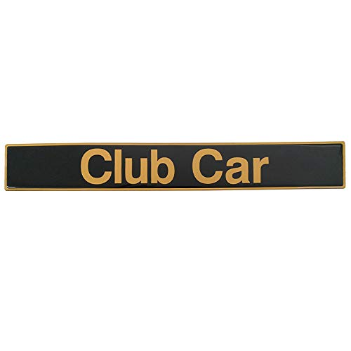 Drive-up Name Plate for Club Car DS Precedent Emblem Black Gold for Golf Cart
