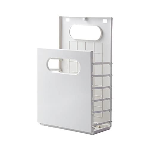 Cesta de lavandería Plegable para baño Nordic Hogar Ropa Sucia Curtper Montado en la Pared Curtidor de lavandería para Sala de Estar para Ropa Juguetes Baño (Color : Light Gray)