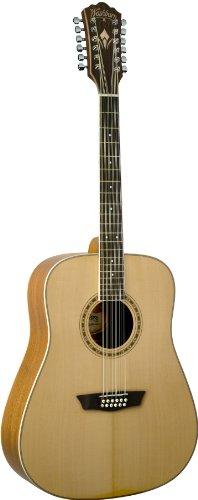 Washburn WD10S12 - Guitarra acústica con cuerdas metálicas, color natural