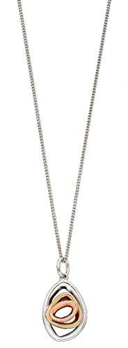 Photo of Elements Gold Womens Pebble Shape Stud Pendant – White Gold/Gold/Rose Gold