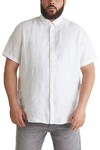ESPRIT Herren 050EE2F318 Hemd, 100/WHITE, 5XL