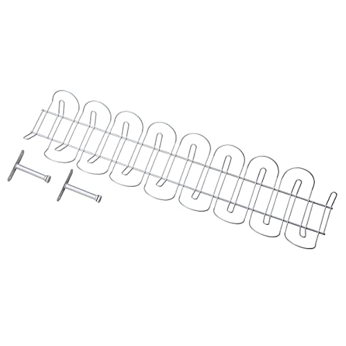 Ikea Regleta para Cables Horizontal, Metal, Gris, 86x21x5 cm