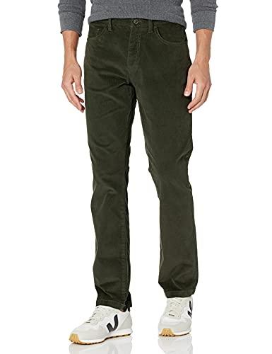 Amazon-Marke – Goodthreads Herren Cordhose mit 5 Taschen, komfortabel, elastisch, gerader Schnitt, Grün (Olive Oli), 36W x 31L